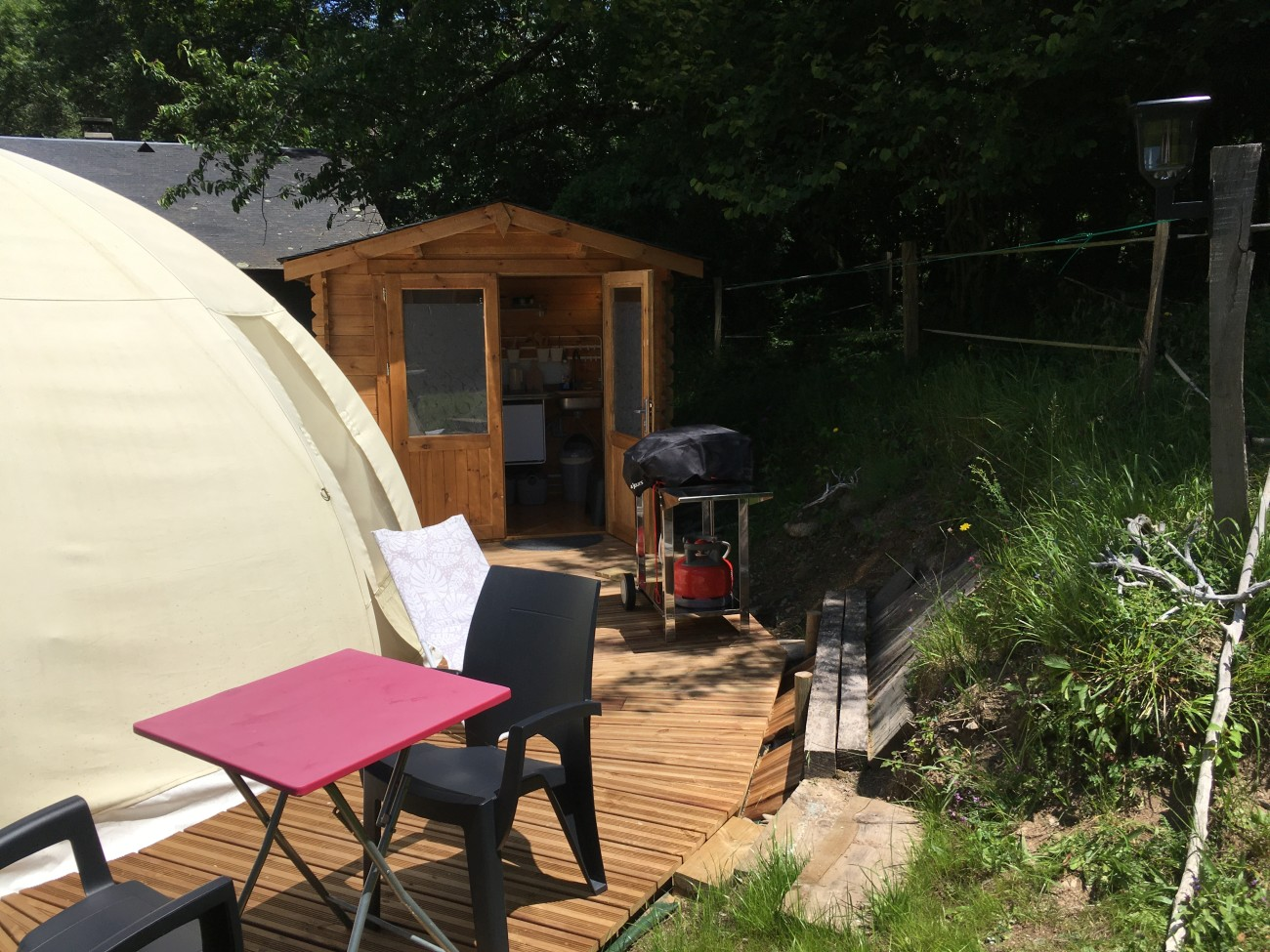 variante de tipi insolite Pyrenees glamping